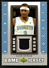 ~ 2007-08 Upper ALLEN IVERSON Game Used Patch/Jersey ~ AI ~