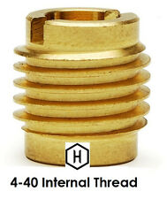 E-Z Lok P/N 400-004, 4-40 Threaded Brass Insert For Wood (25 Pieces)