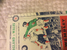 1953 ENGLAND V WALES SCHOOLS INTERNATIONAL @ WEMBLEY