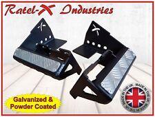 Ratel-X 90 Defender Rear Bumper Bumperettes Corner Step 6mm Steel Land Rover
