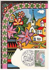 CARTE MAXIMUM FDC 1978 TIMBRE N° 2006 FLEURISSEMENT DE LA FRANCE