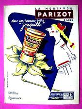 Protège cahier Moutarde Parizot illustré par Savignac point Chèque tintin