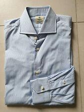 NWOT Luigi Borrelli Napoli Shirt Size 15 1/2 39 Handmade Sartorial Kiton Brioni