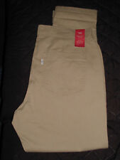Women's New 12 / 31 Levi's Tan Brown Mid Rise Essential Chino Pants 31 x 28