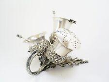 More details for lovely vintage silver plate figural scottish thistle cruet set & stand