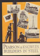 Pearson & Knowles Vintage Builders In Steel Brochure,From England-1930'S?