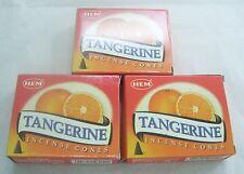 Hem Tangerine Incense Cones, 3 Packs of 10 Cone = 30 Cone