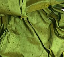 "Golden Green - Silk Dupioni fat 1/4 18""x27"" remnant"