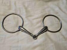 Large Ring Hollow Mouth Horse Bit 5.5 Inch