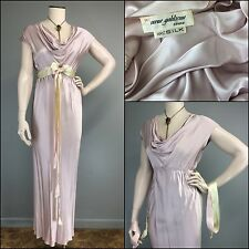 Vtg Rare Irene Galitzine Van Raalte Liquid Silk Bias Drape Gown Dress Hi Waist