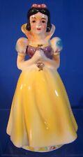 Lovely Wales 1960's Walt Disney Snow White Ceramic 5� Tall Watch Statue!