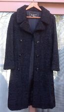 Women's Schiaparelli Paris Coat Persian Lamb Lambswool Black