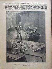 SOLEIL DU DIMANCHE 1895 N 36 L'ATTENTAT ANARCHISTE CHEZ LE BARON DE ROTHSCHILD