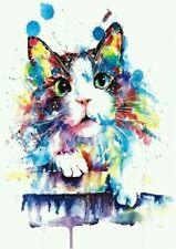 Rainbow Kitten Temporary Tattoo Stickers A5 Waterproof Body Adults Tattoos Cat🐾