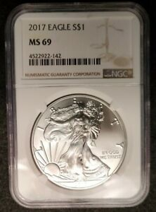 2017 NGC MS69 American Silver Eagle