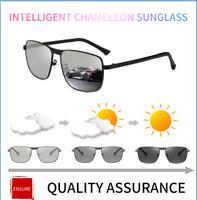 Mens Photochromic Sunglasses Polarized Transition Lens Driving Fishing Glasses