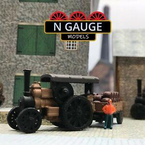 N Scale Gauge Brewery 1:148 / Pub Road Locomotive & Barrels 1:160