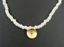 Iridescent Beads Gold Plate Rhinestone NECKLACE