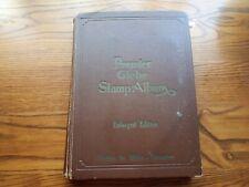 OLD PREMIER GLOBE STAMP ALBUM :  HUGE WORLD COLLECTION -2660 USED STAMPS.