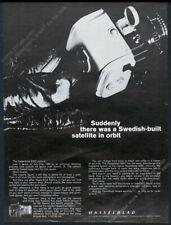 1967 Hasselblad SWC camera photo Swedish-built Satellite in Orbit European ad