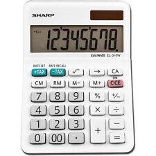 Sharp EL-310WB Mini Desktop Calculator 8-Digit LCD EL310WB