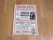 Troise and Mandoliers BBC Band Don Carlos Original Theatre Royal CHATHAM Poster