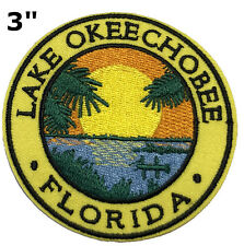 Lake Okeechobee Florida Bass Fishing Embroidered Patch Iron / Sew-On Applique