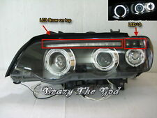 E53 X5 1999-2003 CCFL Angel-Eye Borw LED Projector HEADLIGHT Black for BMW