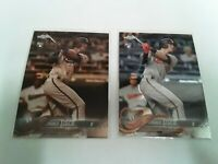 CHANCE SISCO 2018 Topps Chrome GREEN Sepia Refractor ROOKIE + Matching Chrome