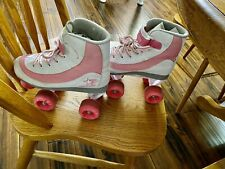 New listing ROLLER DERBY GIRLS WHITE & PINK USED SKATES SIZE 3
