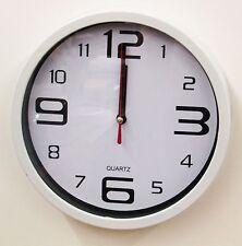 """WHITE KITCHEN WALL CLOCK 8"""" -  MADE BY KOLE  55253W"""