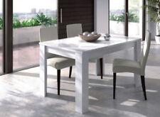 Mesa de comedor / extensible / 2 posiciones / Blanco Brillo / Recibidor / Cocina