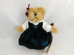 "RUSS Vintage Collection Tan Bear Green Dress 6"" Stuffed Animal Toy"