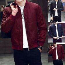 Men's Warm Jacket Trench Coat Overcoat Outwear Slim Fit Long Sleeve Zipper FA