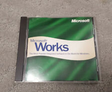 Microsoft Works 4.5a PC Software CD-ROM 1998 for Windows 95 w/key