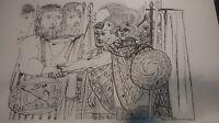 """Pablo Picasso Composition 17-B, Lithograph 30"""" x 24"""""""