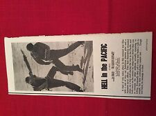 m12s ephemera 1969 film review hell in the pacific lee marvin war film