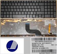 Clavier Qwerty NE Nordic ACER AS5741G ZY8 AEZY8N00010 9J.N2B82.01N BACKLIT