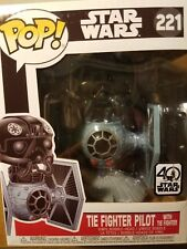 Funko Pop! Star Wars Tie Fighter Pilot w/ Tie Figure #221 Vinyl 40 Anniversary