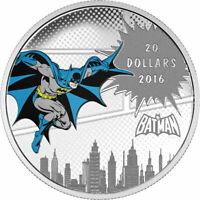 2016 $20 Fine Silver Coin - DC Comics (TM) Originals; The Dark Knight