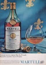 1963 Martell Cognac Brandy Vintage Bottle Seventh Generation PRINT AD