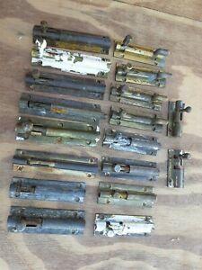 """Vintage Brass Security Safety sliding Bolt 4"""" & 3"""" Sold Singular (1) lock"""