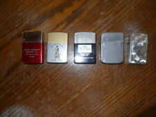 Lot of 5 aluminum case lighters various makers