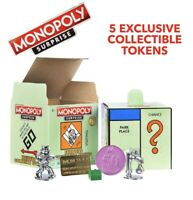 🔥New Monopoly Surprise Exclusive Collectible Tokens 5 Surprise Pieces Sealed🔥