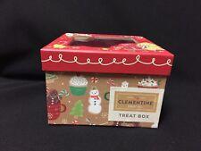 NWT Clementine Festive Christmas Treat See Thru Top Box