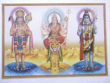 "HANUMAN SHERAWALI SHIVA DURGA Poster Hindu God Dev unique sacred 16""11"""