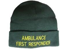 Ambulance First Responder Personalised beanie woolly hat
