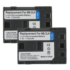 NB-2LH Camera Battery For Canon EOS NB-2L 350D 400D ZR200 ZR400 ZR600 7.4V 2PACK