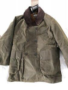 New BARBOUR X Engineer Garments Mackinaw Wax Insulated Fur Jacket Coat Mens XL