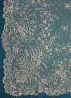 2 antique large Brussels applique lace skirt panels